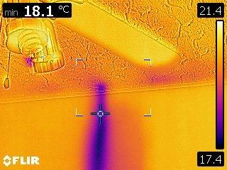 Balayage de caméra thermique fuite de chaleur