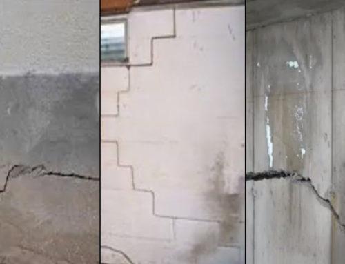 Les fissures de fondation, si vous en avez, faites les réparer!